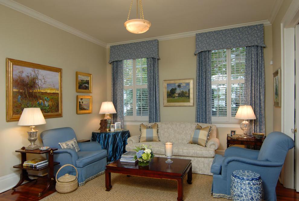 Living room - traditional living room idea in Charleston