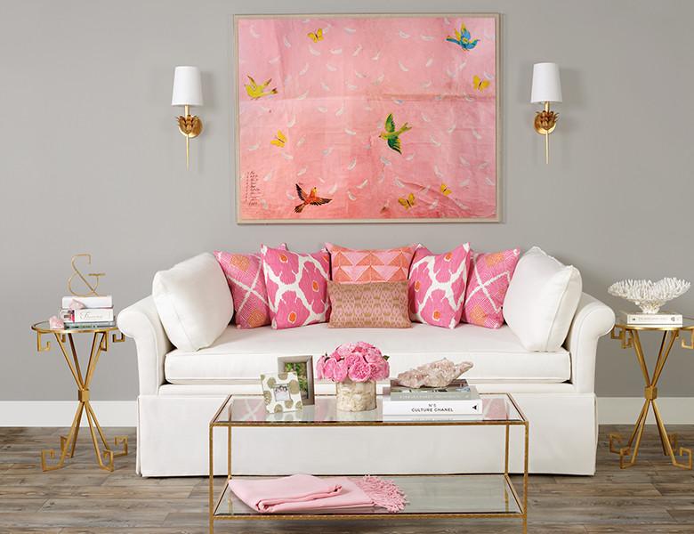 Living room - transitional living room idea in Houston