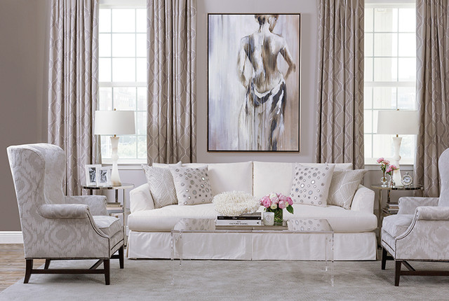High Fashion Home Fall 2014 Transitional Living Room