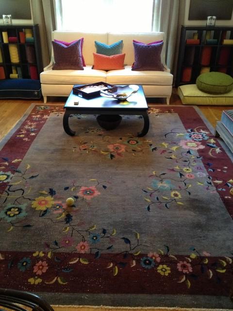 High Point Market showroom for Linda Lane Design traditional-living-room