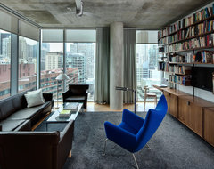 High Rise Apartment industrial-living-room
