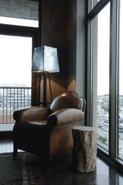 High Rise eclectic-living-room