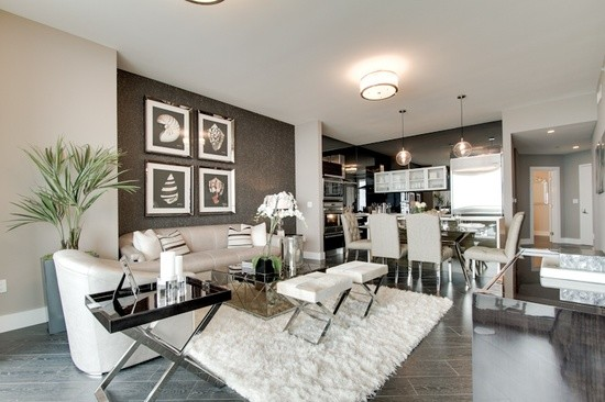 High rise glamour for Glam modern living room