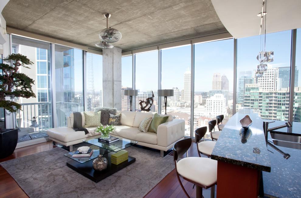 High Rise High Style Peachtree Street Atlanta Ga Contemporary Living Room Atlanta By Minhnuyet Hardy Interiors