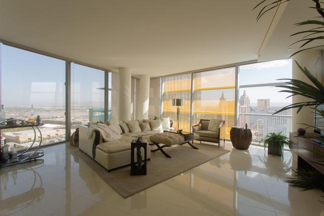 Interior Designers Decorators High Rise VEER Towers City Center Las Vegas Living Room