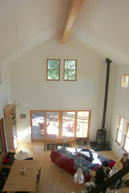 High Sierra Cabin (plans available) contemporary-living-room