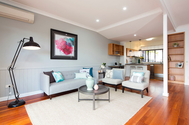 Highgate Hill Townhouse refurbishment transitional-living-room