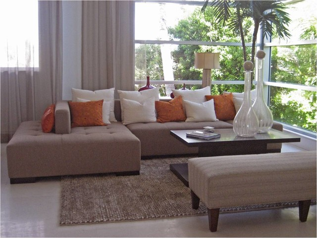 HIGHLAND BEACH FL. contemporary-living-room
