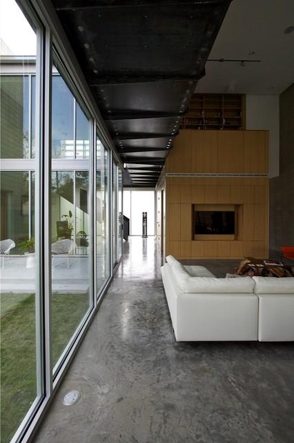 Highland Village House contemporary-living-room