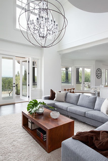 Highpoint langley residence - Living room home decor fort langley ...