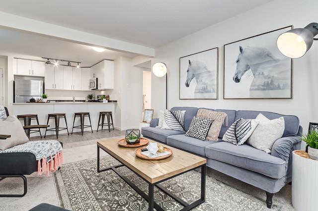 Highstreet Ventures Show Suites Scandinavian Living Room Calgary By Gioia Interiors