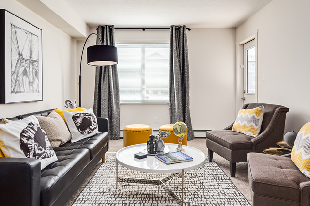 Highstreet Ventures Show Suites Contemporary Living Room Calgary By Gioia Interiors