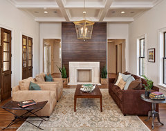 Hill Country Contemporary eclectic living room