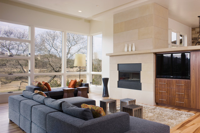 Hill Country Contemporary contemporary living room