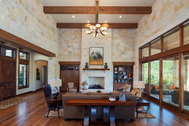 Hill Country Custom Home - In Montagna - Soggiorno - Austin - di Dawn ...