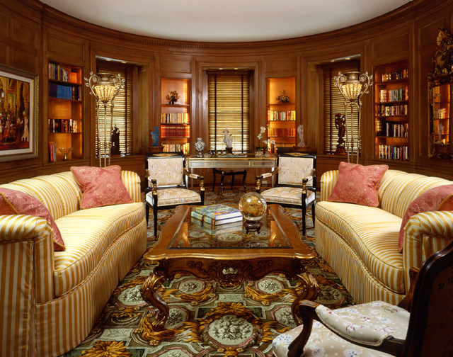 Historic Library Eclectic Living Room San Francisco