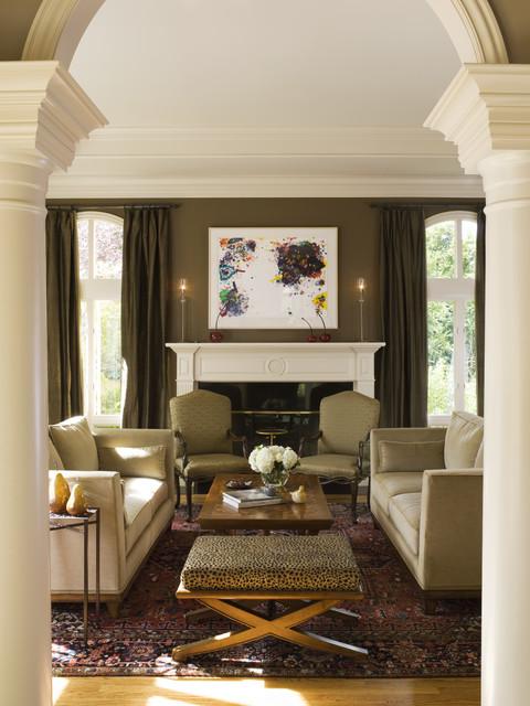 Hillsborough Mediterranean Classic traditional-living-room