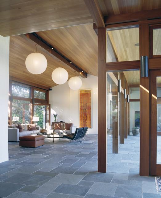 Hillsborough Residence modern-living-room