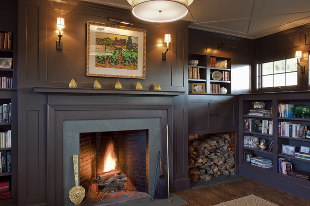 fireplace library ideas firewood storage ideas houzz
