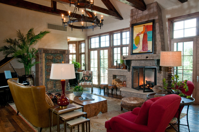 Hillside House traditional-living-room