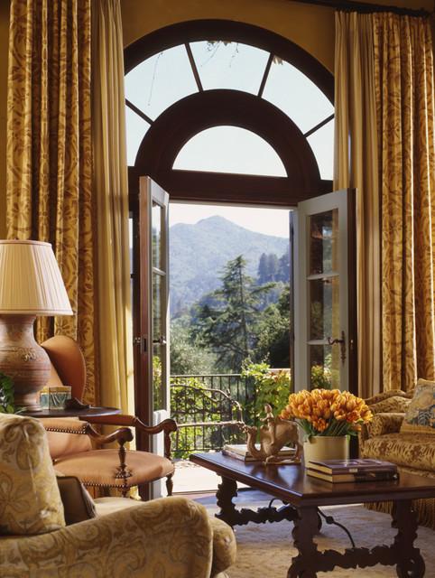 Hillside Residence traditional-living-room