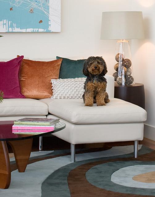 Hillside Sanctuary:  Living Room Detail by Kimball Starr Interior Design modern-living-room