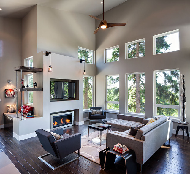 Superior Hilltop House   Grand Vista Subdivision Contemporary Living Room