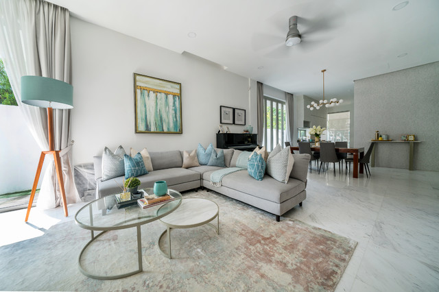 Hindhede Place contemporary-living-room