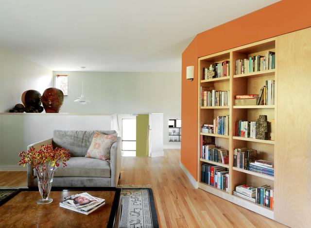 Hinesburg vt residence modern living room burlington for The family room vermont