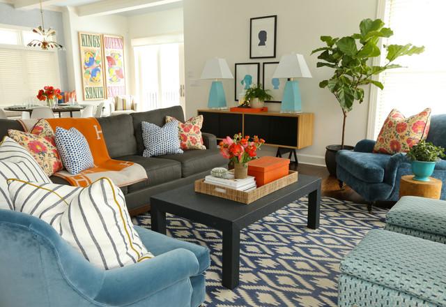 Hinsdale Interior contemporary-living-room