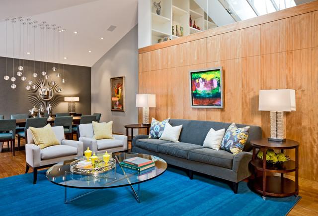 Hip Living Room Contemporary Living Room