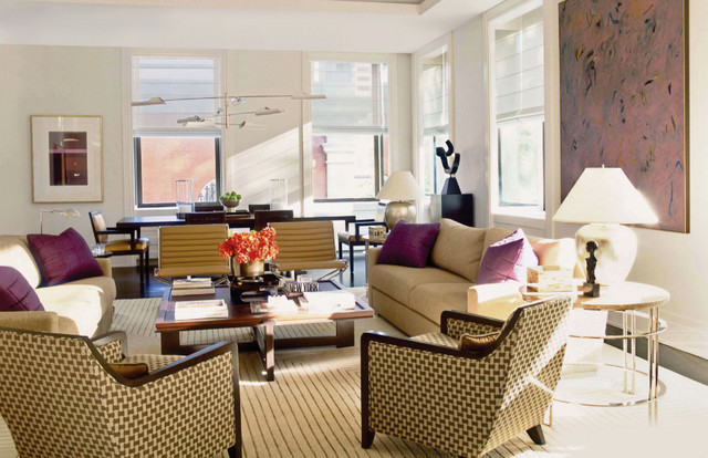 Historic Art Deco Apartment on Washington Square, Philadelphia contemporary-living-room