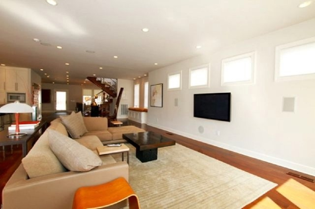 Historic Bungalow with a Modern Twist contemporary-living-room