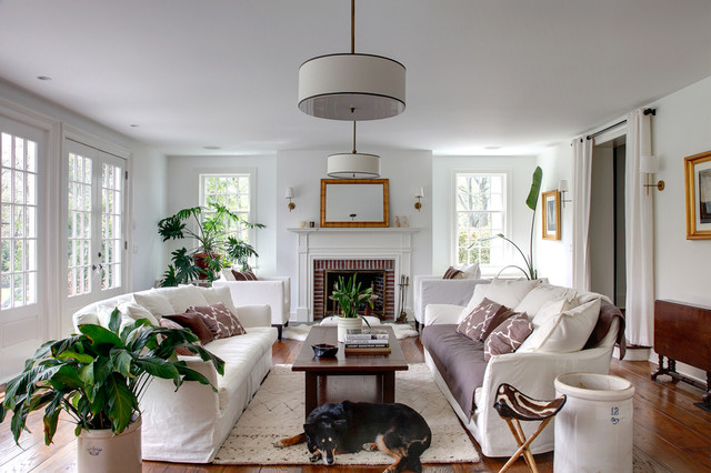 Historic Clapboard Hill traditional-living-room