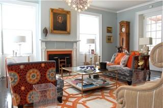 Historic Estate transitional-living-room