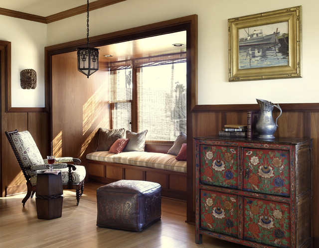 Historic Irving Gill traditional-living-room