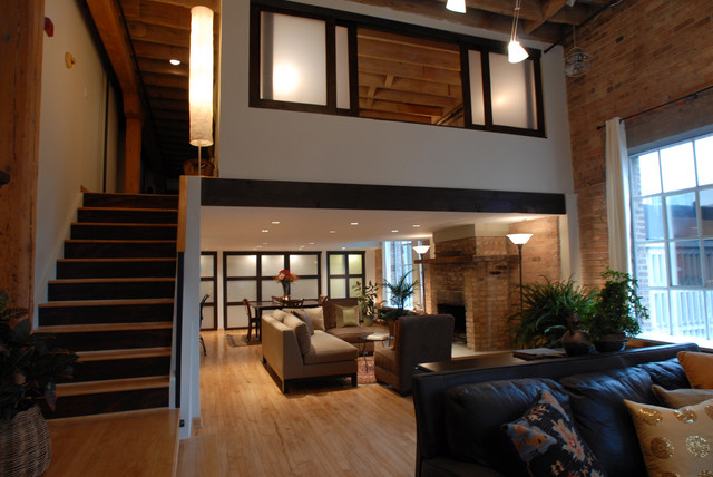 Historic Loft Living Craftsman Living Room Chicago