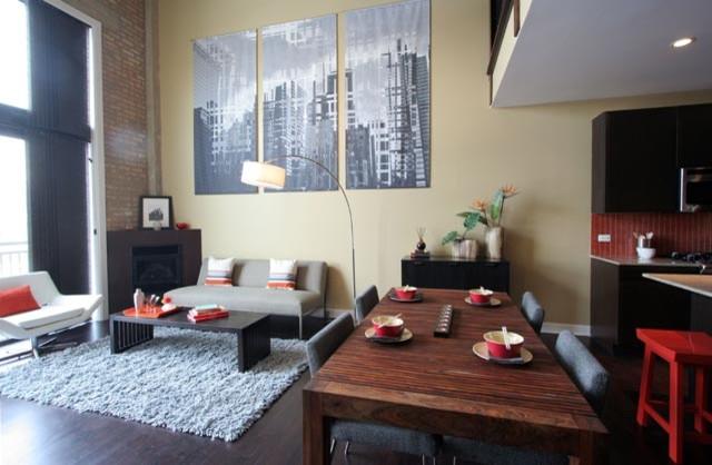 Opera Lofts - South Loop contemporary-living-room