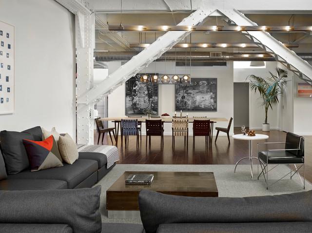 Historic SOMA Loft For Live Work Industrial Wohnzimmer