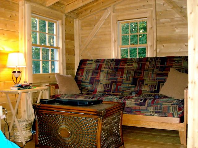 Hobbit Hole House hobbit hole 'tiny house' cottage - traditional - living room