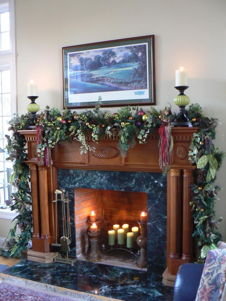 Elegant living room photo in New York