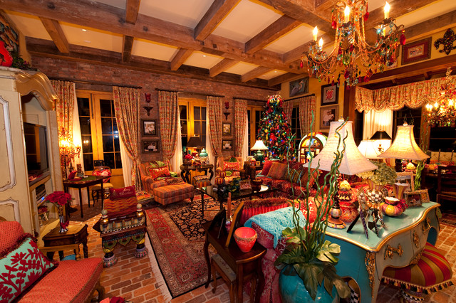 Holiday installation of southern style great room for Traditional great room designs