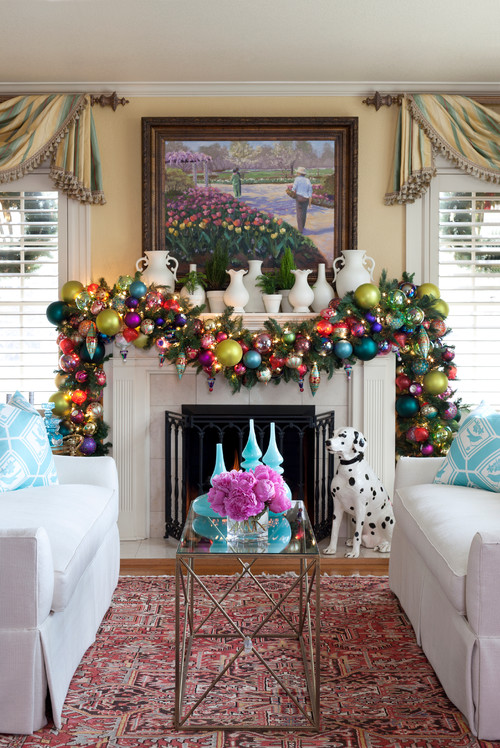 Put ornaments all over your house for an extra merry holiday