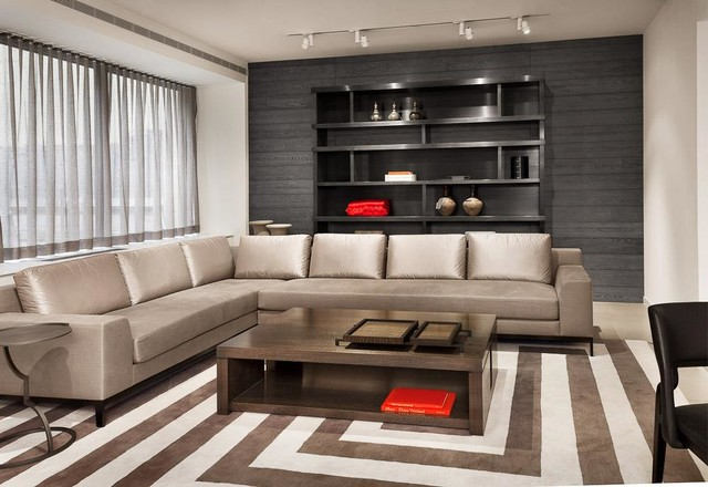 Holly Hunt New York Contemporary Living Room New