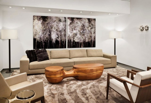 Holly Hunt New York Contemporary Living Room