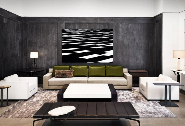Holly Hunt New York Contemporary Living Room
