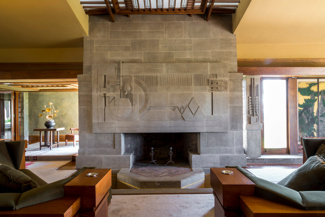 Hollyhock House modern-living-room