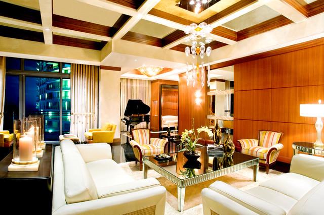 Hollywood Beach, FL contemporary-living-room