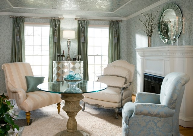 Hollywood glam living room traditional living room for Decorating den interiors