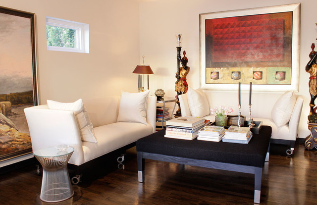 Contemporary Glam Living Room: Hollywood Glamour